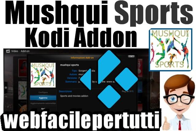Mushqui Sports Kodi Addon - Guarda Gratis partite di calcio, Formula 1, MotoGp e tanto altro ancora