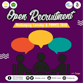 OPEN RECRUITMENT PENDAMPING CORESHIP & PKMMTJ 2018