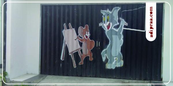 Enjoy Mural Jogja: Tikus dan Kucing | adipraa.com