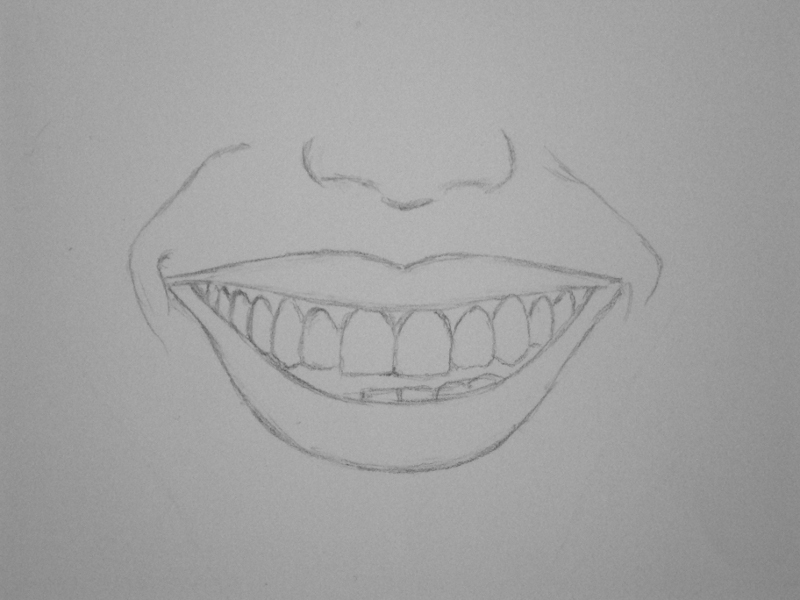 Tutorial: How To Draw a Human Mouth