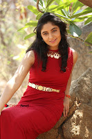 Telugu Actress Zahida Sam Latest Pos in Red Gown at RF Films New Movie Opening  0362.JPG