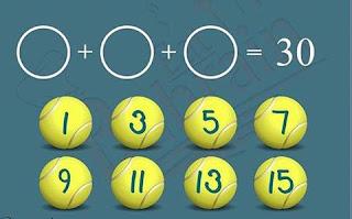 لغز اختر 3 كرات فقط لتحصل على النتيجة 30 -  ﻣﻦ ﻳﺴﺘﻄﻴﻊ ﺇﻳﺠﺎﺩ ﺍﻟﻨﺘﻴﺠﺔ و فك اللغز ؟