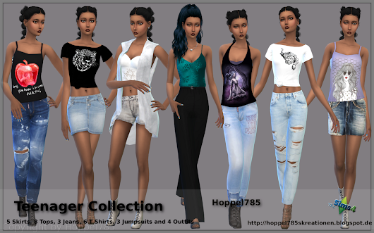 TS 4 Fashion: Teenager Collection by Hoppel785