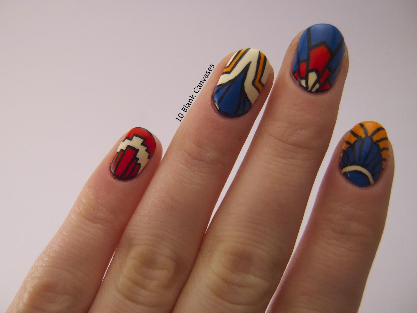 art deco nails art deco nail art 10 blank canvases