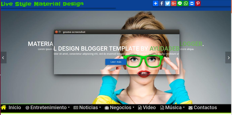 Plantilla Live Style Material Design Blogger | Miblogdeayuda