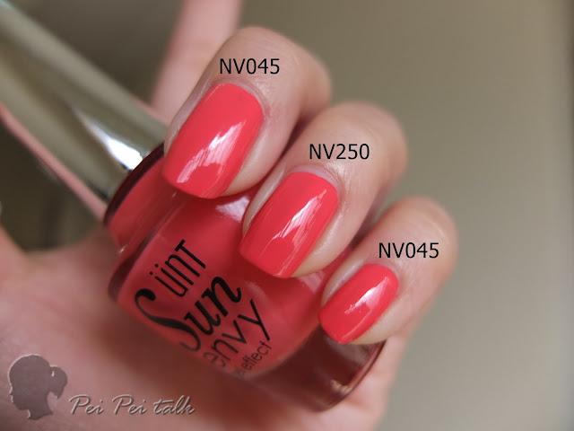 UNT-NV045-NV250試色比較