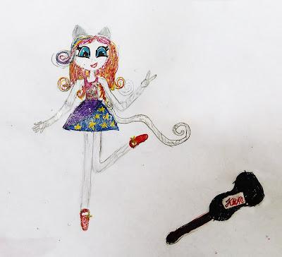 девочка - кошка - вокалистка - гитаристка...