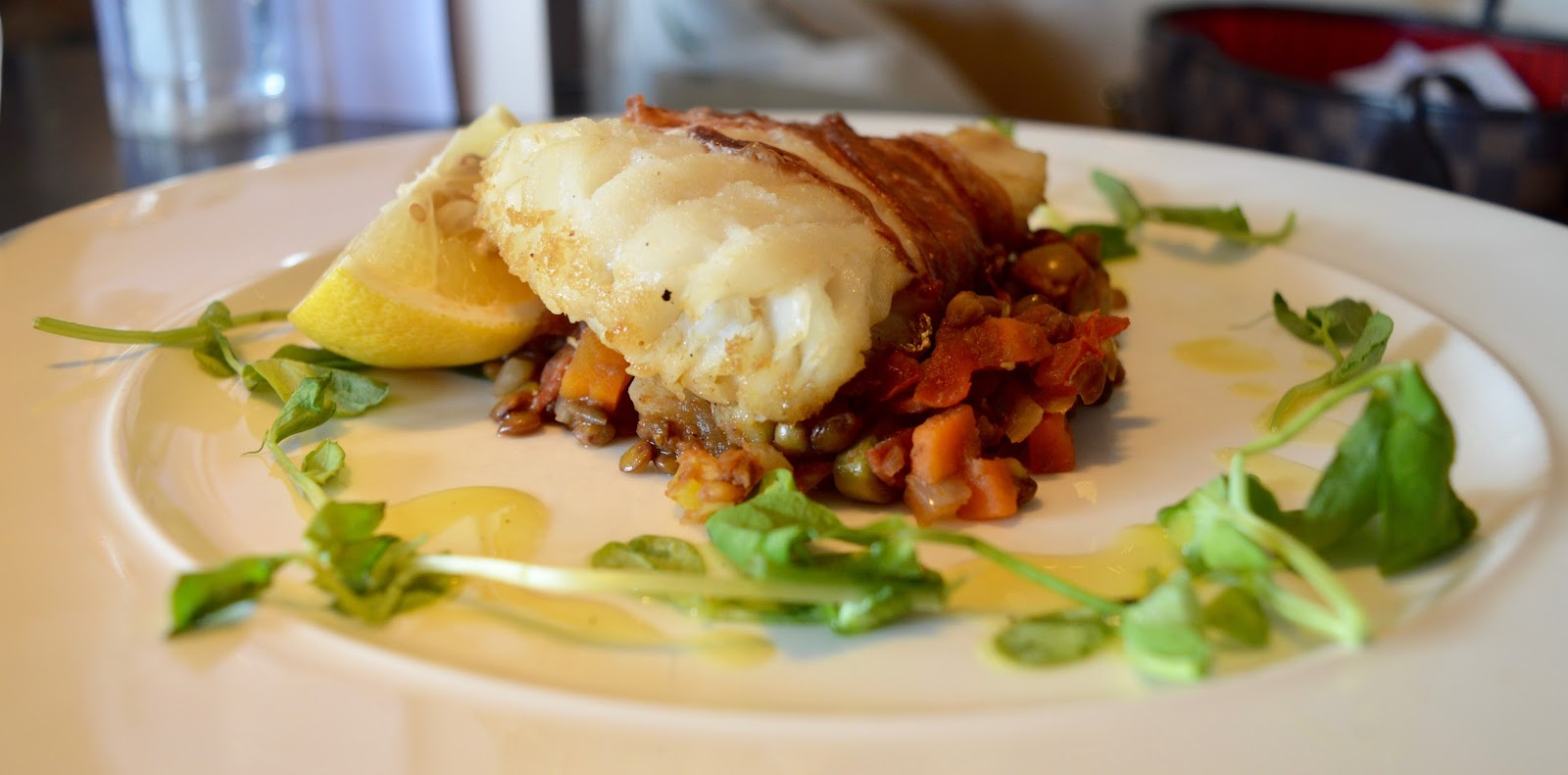 Comfort Food for Autumn at Gusto, Newcastle Quayside | A Review - Cod wrapped Tuscan Ham