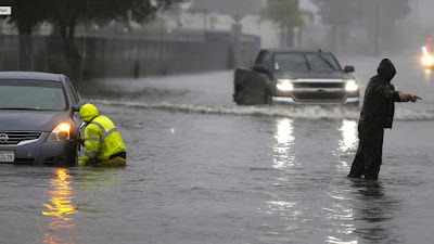 Evacuations in San Jose Flooding, California