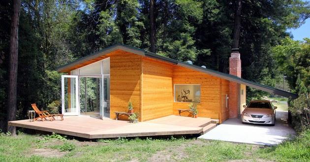Desain Rumah Sederhana Dengan Dinding Kayu Rancangan