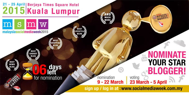 Nominated for Best Travel Blog in Malaysia Social Media Week 2015