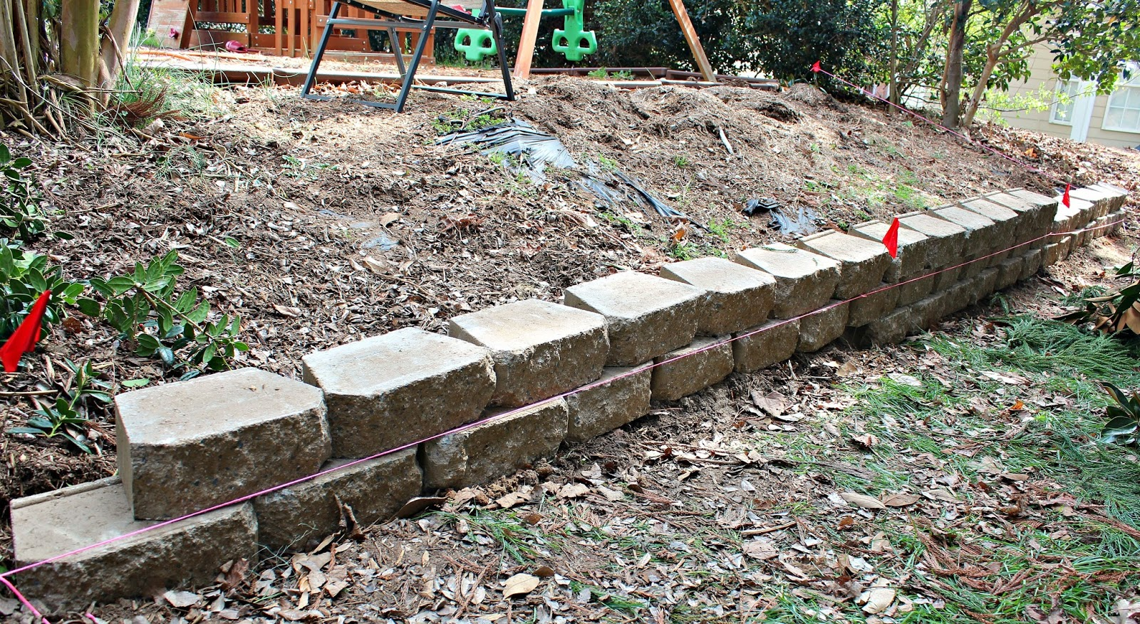 Retaining Block Wall Home Depot : Of blocks from home depot and continue building the retaining wall