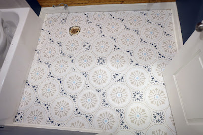 ceramic tile floor stencil paint pattern