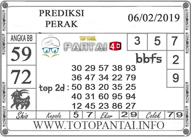 """Prediksi Togel """"PERAK"""" PANTAI4D 06 FEBRUARI 2019"""