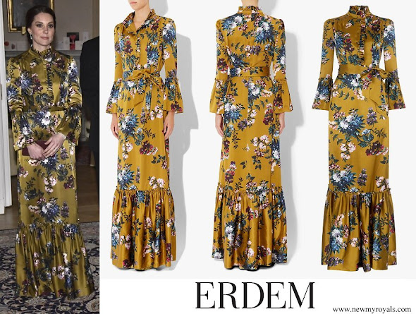 Kate Middleton wore ERDEM Stephanie Gown