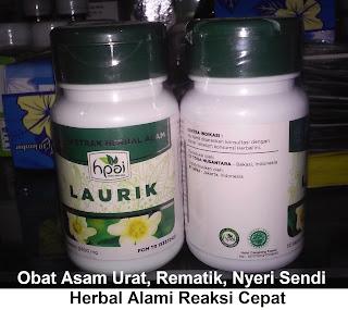 Laurik Hpai obat herbal alami asam urat rematik nyeri sendi