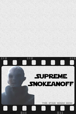 Supreme Leader Snoke's Stroganoff Free Printabel Food Label