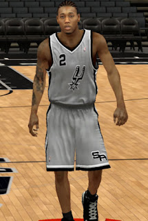 NBA 2K13 Spurs Gray Alternate Jersey Fix Patch