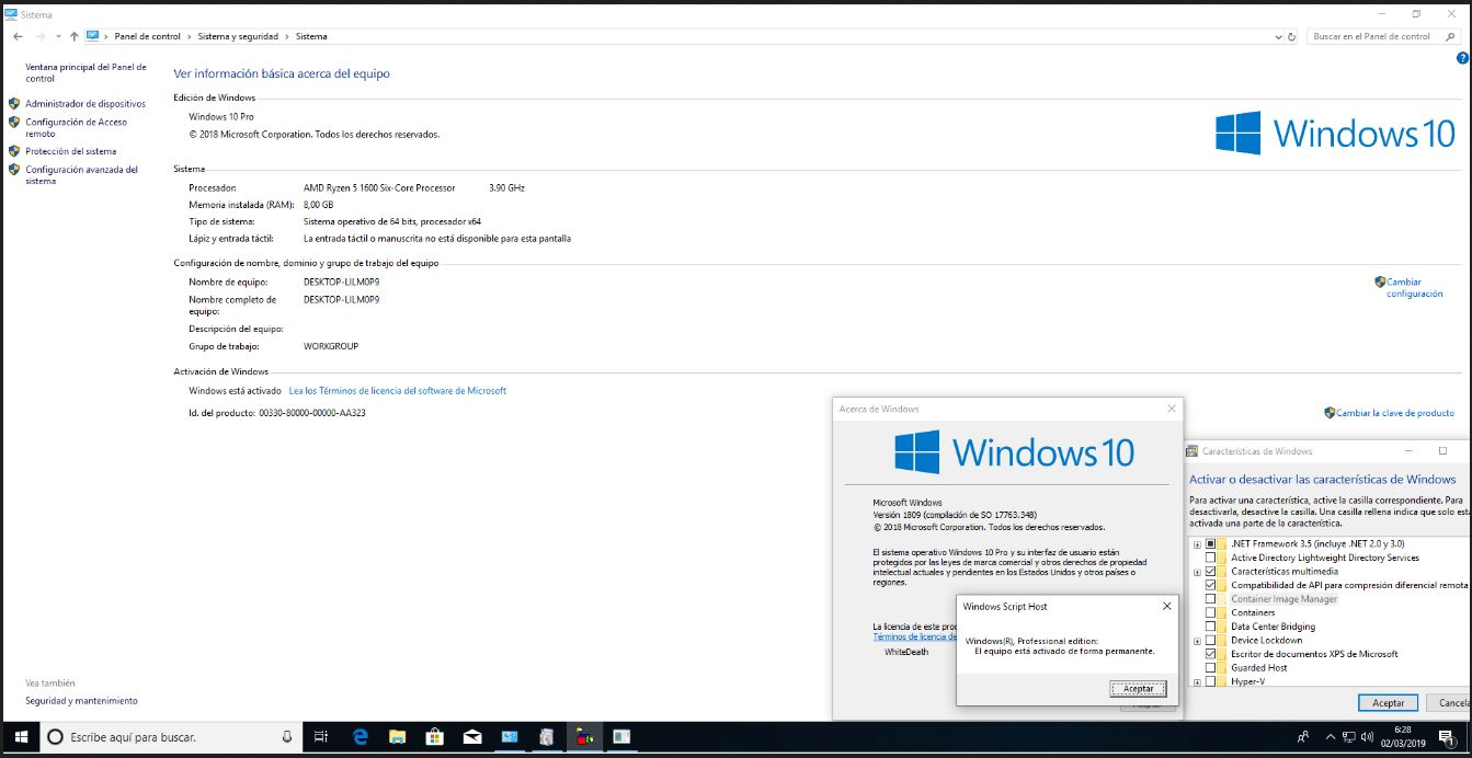Windows 10 Pro RS5 Full Español