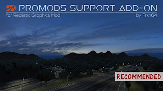 ets 2 promods support addon v1.9 for realistic graphics mod
