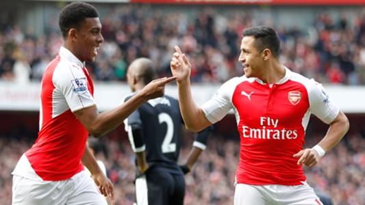 Alex Iwobi and Alexis Sanchez Arsenal