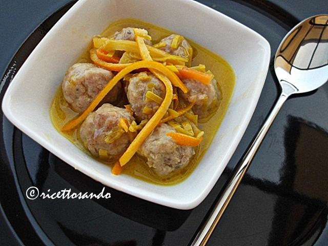 Polpettine speziate all'arancia ricetta araba di carne