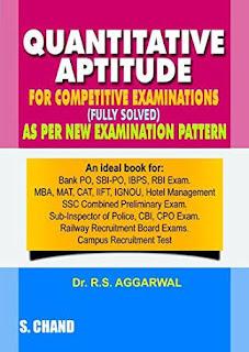 QUANTITATIVE APTITUDE BY R.S AGGARWAL