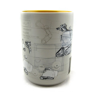 pixar walle art mug