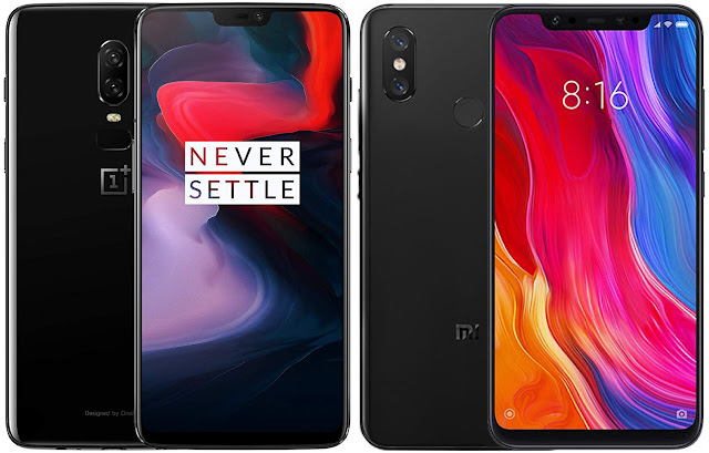 OnePlus 6 64 GB vs Xiaomi Mi 8 64G