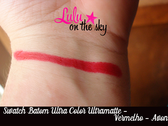 Batom  Ultra Color Ultramatte  Vermelho da  Avon