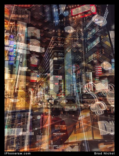 Multiple exposure, taken on iPhone, Ginza, Japan