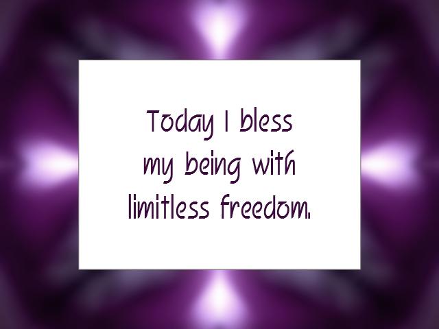 FREEDOM affirmation