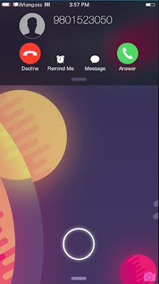 CallBar is a cydia tweak which allows you to answer, decline or dismiss a call with ease without stopping what you are doing