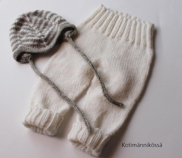 vauvan neulotut housut