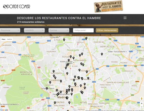 Restaurantes contra el Hambre 2016 en Madrid