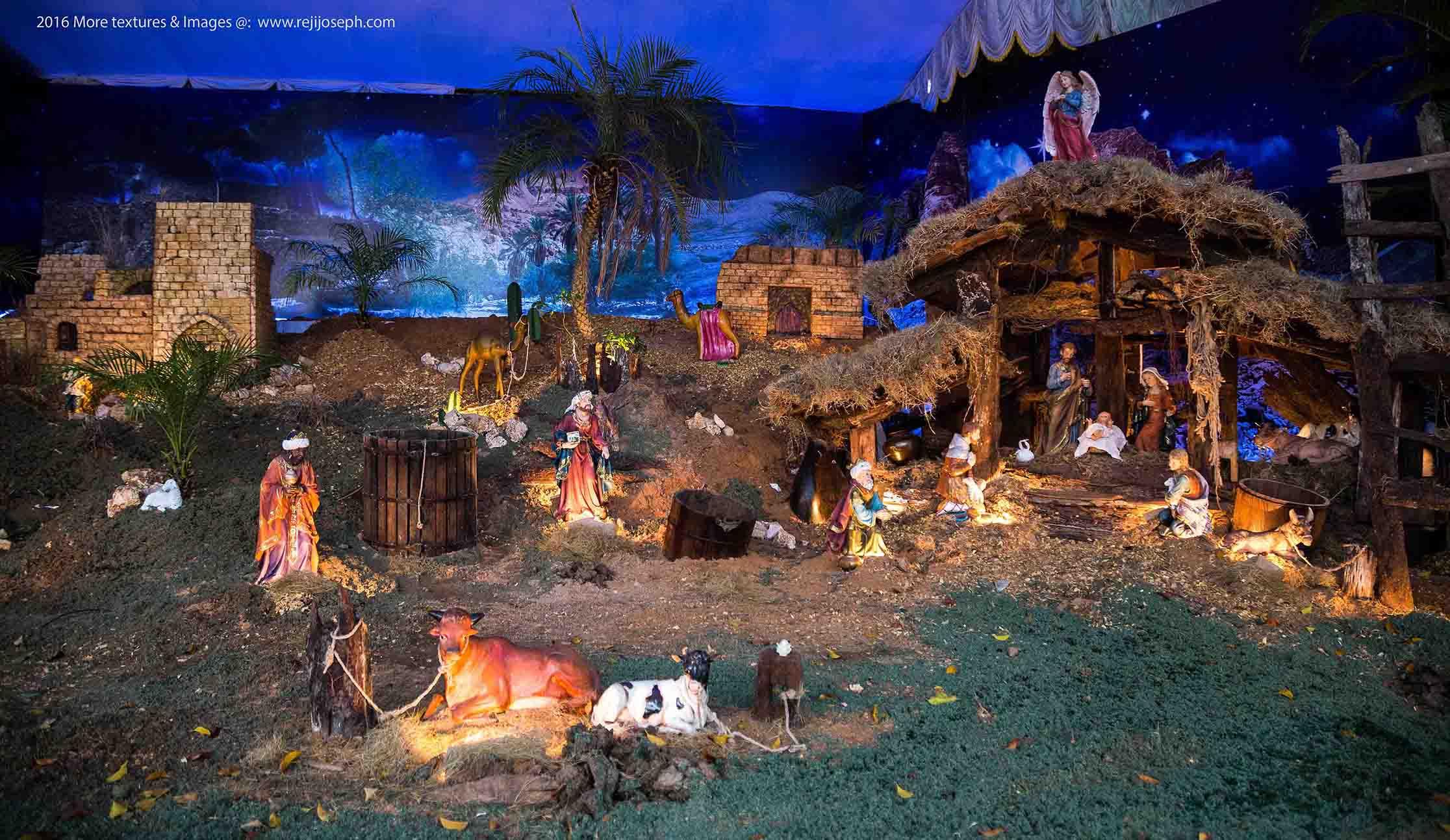Christmas crib Pulkoodu St. Francis Assisi Cathedral Ernakulam 00003