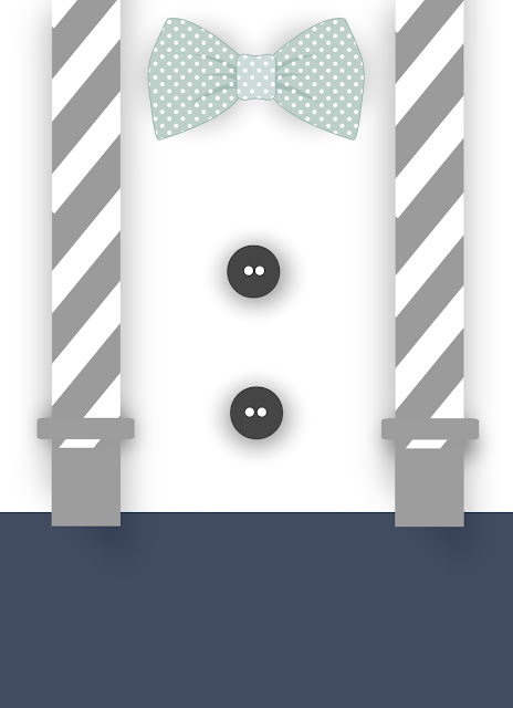 stripes   sweets  little man baby shower template