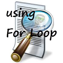 using for loop to read text in python