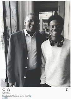 Korede Bello poses with Dangote