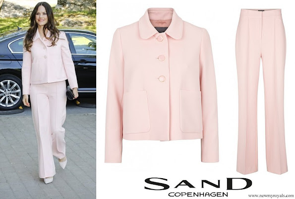 Princess Sofia wore SAND Copenhagen Briani Jacket and Yasna Trousers
