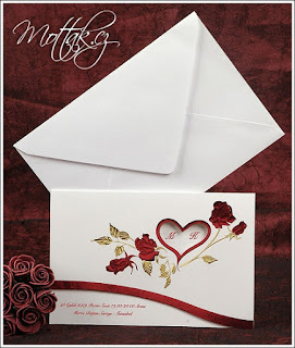 Svatební oznámení 2395 s růžemi