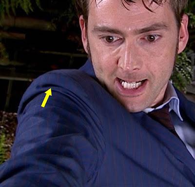 10th Doctor blue suit shoulder pads