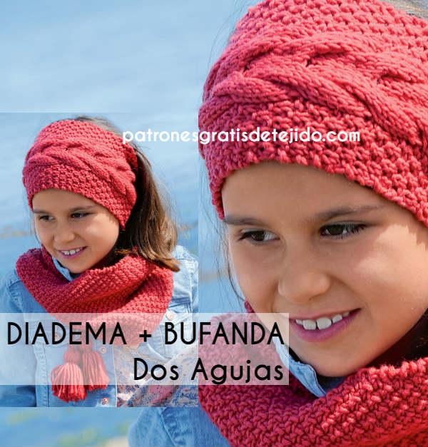 precio moderado pulcro despeje Patrones de Diadema y Bufanda Infinita Tejidas a Dos Agujas ...