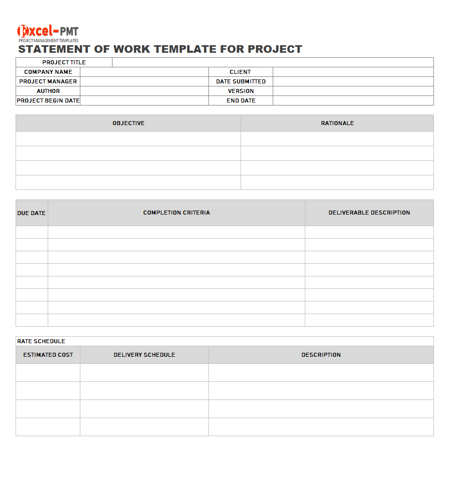 Examples & Template For Project