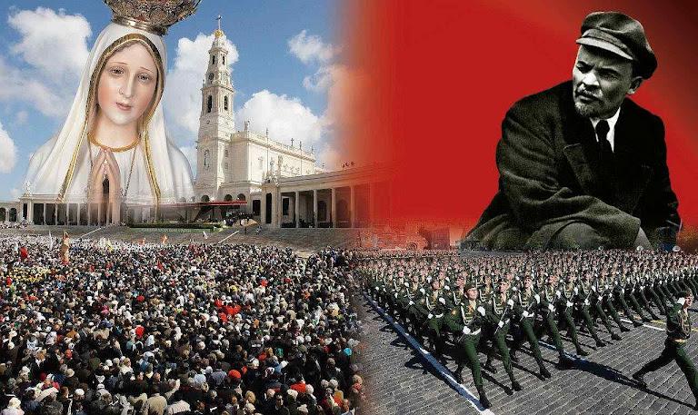 1917-2017 século marcado pelo choque de duas profecias: a de Nossa Senhora em Fátima pedindo conversão e advertindo sobre a Rússia e a do comunismo infernal na Rússia anunciando a conquista do mundo