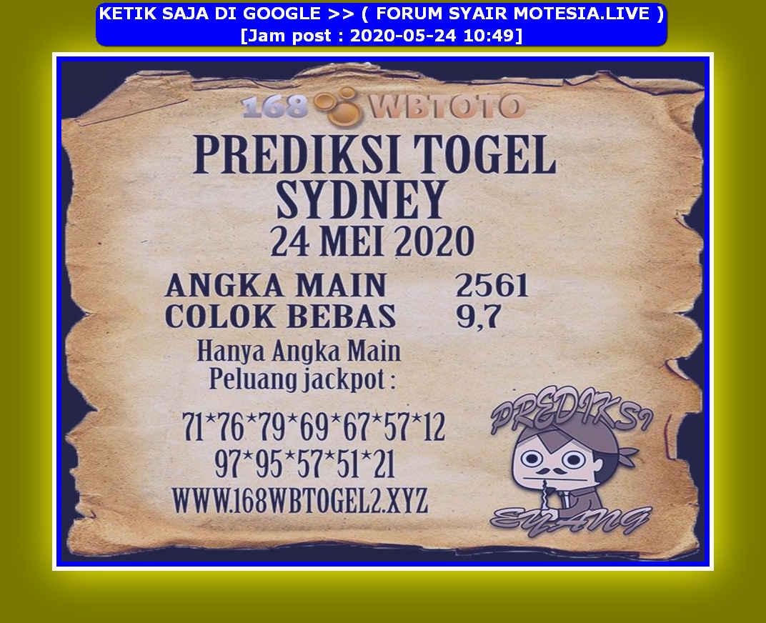 Kode syair Sydney Minggu 24 Mei 2020 64