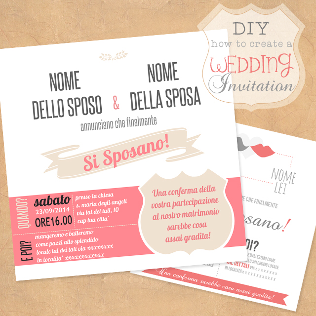 diy wedding invitation - Simona S.