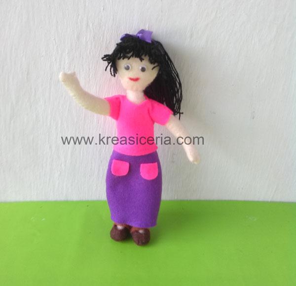 Cara Membuat Boneka Barbie Dari Kain Flanel