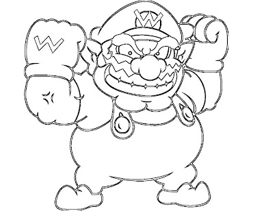 wario coloring pages 10 Wario Coloring Page wario coloring pages
