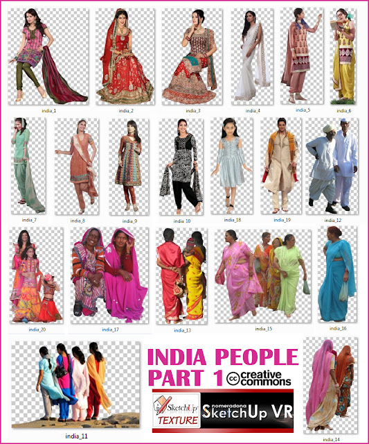 cut out india people